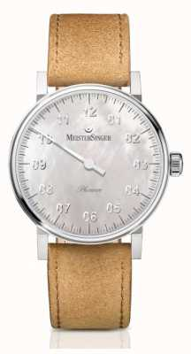 MeisterSinger Unisex Form And Style Phanero Hand Wound Mother Of Pearl PHM1C