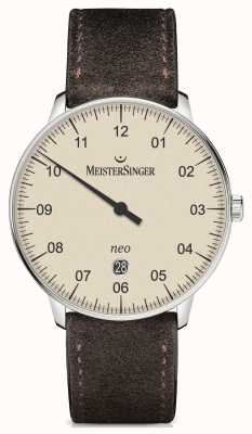 MeisterSinger Mens Form And Style Neo Plus Automatic Ivory NE403
