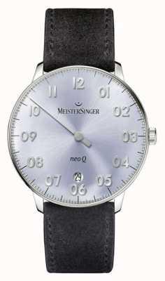 MeisterSinger Mens Form And Style Neo Q Quarz Sunburst Sky Blue NQ908N