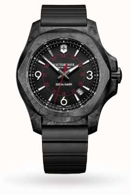 Victorinox Swiss Army INOX Carbon Black Rubber Strap 241777
