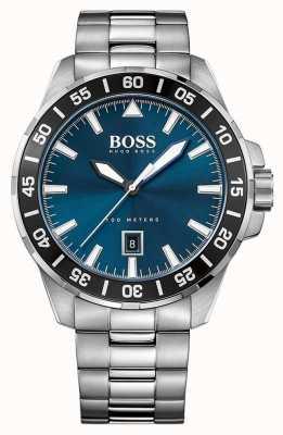 Hugo Boss Mens Stainless Steel Blue Dial 1513230