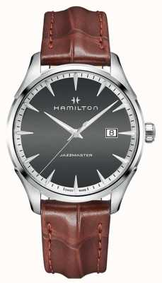 Hamilton Mens American Classic Jazzmaster Quartz Leather H32451581