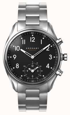 Kronaby APEX bluetooth Stainless steel Black Dial watch A1000-1426