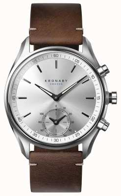 Kronaby 43mm SEKEL Bluetooth Dark Brown Leather A1000-0714 S0714/1