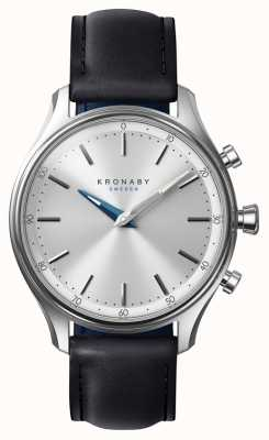 Kronaby 38mm SEKEL Bluetooth Black Leather Strap A1000-0657 S0657/1