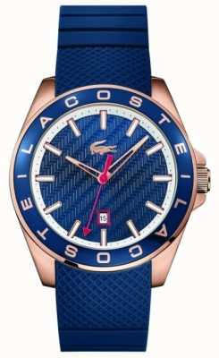 Lacoste Mens Westport Blue Rubber Strap 2010906