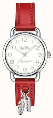 Coach Womans Delancey Watch Red Leather Strap 14502758
