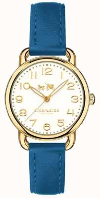 Coach Womans Delancey Watch Blue Leather Strap 14502709