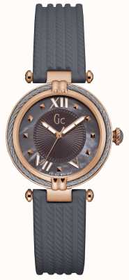 Gc Womans Cablechic Grey Silicone Strap Y18006L5
