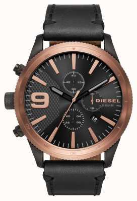 Diesel Gents Rasp Chrono Rose Gold/black Watch DZ4445