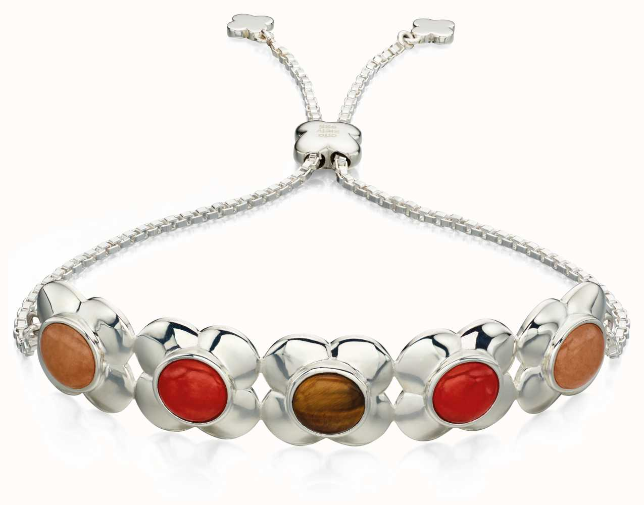 Orla Kiely MARGOT Sterling Silver Quartz Tigers Eye Bracelet B4851 ... 962361613