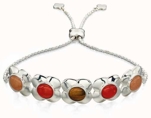 Orla Kiely MARGOT Sterling Silver Quartz Tigers Eye Bracelet B4851