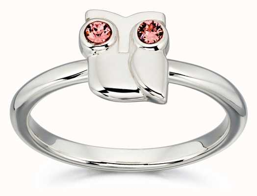 Orla Kiely ANIMAL STORIES Sterling Silver Owl Ring R3494-58