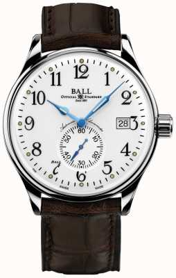Ball Watch Company Mens Trainmaster Standard Time Chronometer NM3888D-LL1CJ-WH
