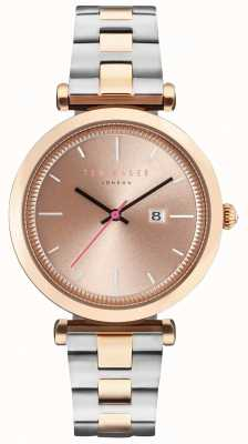 Ted Baker Womans Ava 36mm Rose Gold Case Two Tone Bracelet TE10031523