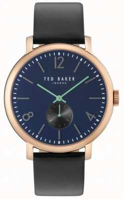 Ted Baker Mens Oliver 42mm Black Strap Rose Gold Case TE10031515