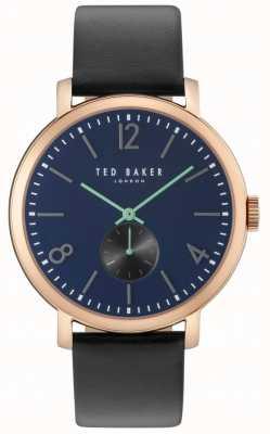 Ted Baker Mens Oliver 42mm Black Strap Rose Gold Case TE10031515