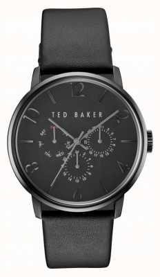 Ted Baker Mens James All Black Leather Chronograph Watch TE10030763