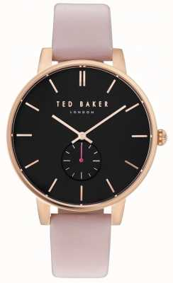 Ted Baker Womans Olivia 40mm Rose Gold Case Pink Leather Strap TE10031538