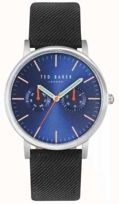 Ted Baker Mens Brit 40mm Blue Dial Black Fabric Strap TE10031496