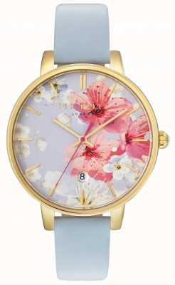 Ted Baker Womans Kate Floral Dial Blue TE10031546
