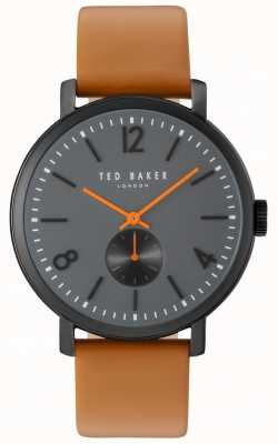 Ted Baker Mens Oliver 42mm Brown Strap Black Case TE10031514