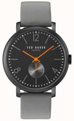 Ted Baker Mens Oliver 42mm Grey Strap Black Case TE10031517