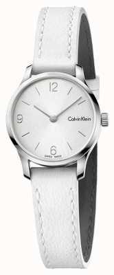 Calvin Klein Womans Endless White Leather Strap White DiaL K7V231L6