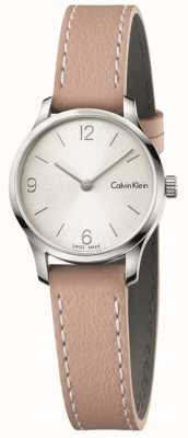 Calvin Klein Womans Endless Beige Leather Strap White Dial K7V231Z6