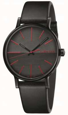 Calvin Klein Mens Boost Black Leather Red Indices K7Y214CY