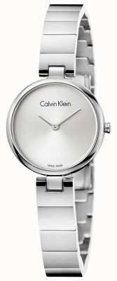 Calvin Klein Womans Authentic Stainless Steel Bracelet Silver Dial K8G23146
