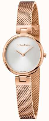Calvin Klein Womans Authentic PVD Plated Rose Gold Mesh Bracelet K8G23626