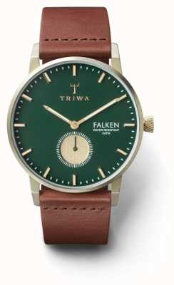 Triwa Mens Pine Falken Brown Leather Green Dial FAST112-CL010217