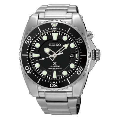 Seiko Mens Prospex Kinetic Divers Stainless Steel Bracelet SKA761P1