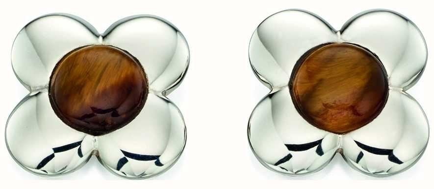Orla Kiely Womans Sterling Silver Flower Stud Earrings E5225
