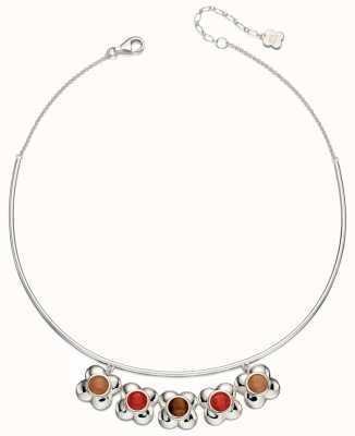 Orla Kiely Womans Sterling Silver Flower Choker Necklace N4043