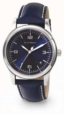 Elliot Brown Womans Kimmeridge Blue Sunray Oiled Leather Strap 405-003-L52