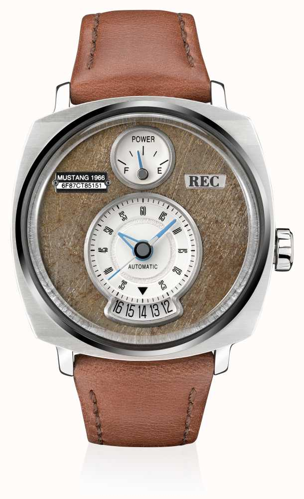 REC P51-02 Mustang Automatic Brown Leather Strap P51-02 - First ... 6b19612314b