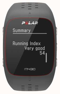 Polar M430 Grey Rubber Sports Watch 90064404