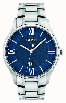 Hugo Boss Mens Governor Classic Blue Dial Watch 1513487