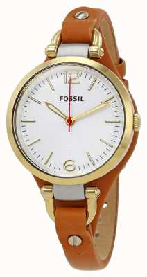 Fossil Womans Georgia Tan Leather Watch ES3565