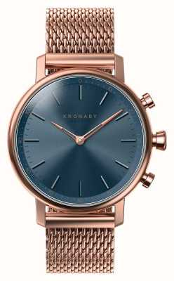 Kronaby 38mm CARAT Bluetooth Rose Gold Blue Dial Smartwatch A1000-0668