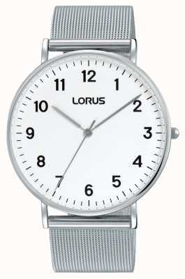 Lorus Mens Urban Dress Classic Mesh White Dial RH817CX9