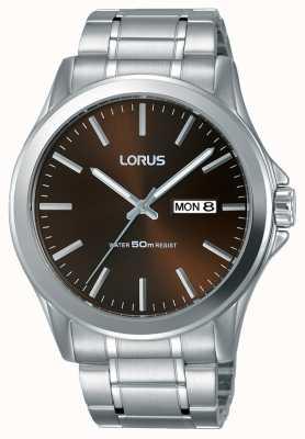 Lorus Mens Urban Dress Classic Steel Bracelet Brown Dial RXN69CX8
