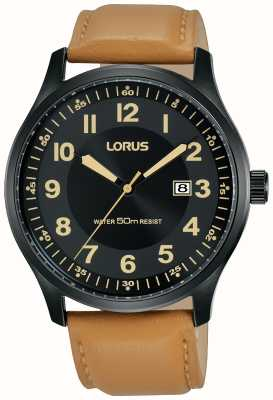 Lorus Mens Urban Dress Titanium Case Brown Leather RH953HX9