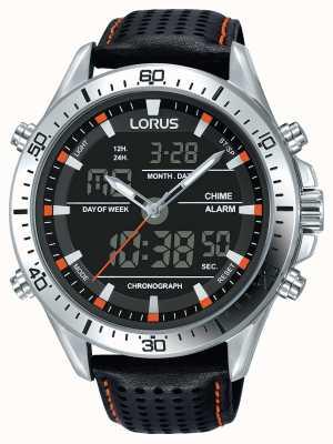Lorus Mens Sport Analogue/Digital Chronograph Black RW637AX9