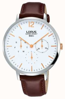 Lorus Womans Elegance Chronograph Brown Leather Strap RP691CX9