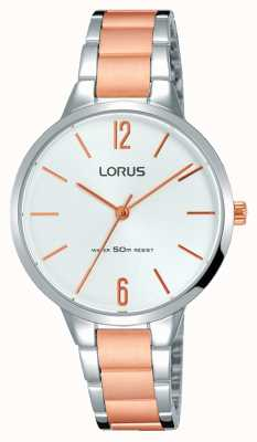 Lorus Womans Elegant Brushed Two Tone Metal Bracelet RRS19WX9
