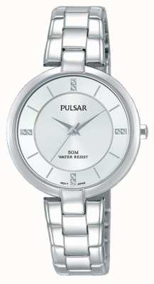 Pulsar Womans Stainless Steel Bracelet Silver Dial PH8311X1