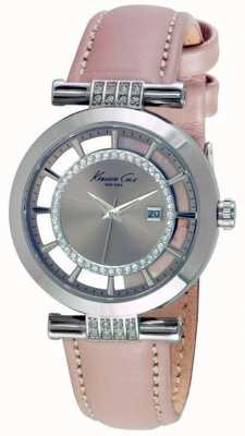 Kenneth Cole Womans Transparency Dial Light Brown Leather Strap KC15005001
